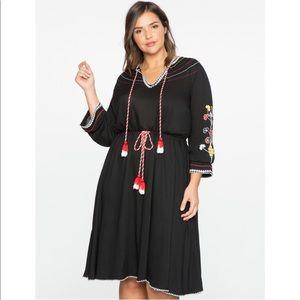 Eloquii Embroidered Tassel Dress